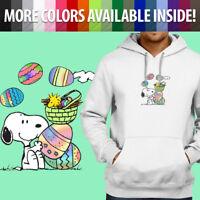 Peanuts Snoopy Woodstock Easter Eggs Spring Pullover Sweatshirt Hoodie Sweater
