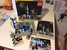 LEGO LEGOLAND CLASSIC SPACE 920 ALPHA-1 ROCKET BASE COMPLETE + 6821 SPAZIO '80