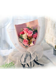 Je T'aime Preserved Fresh 11 Stems Mixed Pink Immortal Soap Roses With Lights
