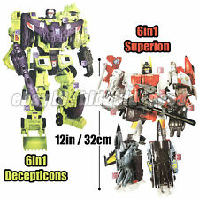 Transformers 6in1 Superion / Devastator 12in 32cm G1 IDW Action Figure Kids Toys