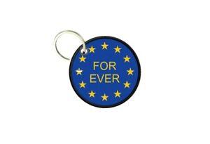 Porte cles clé clefs imprime double face drapeau union europeenne europe forever