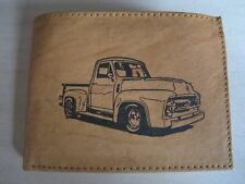 Mankind Wallets-Men's Leather RFID Billfold-FREE 1950's Ford F100 Truck Image