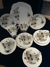 Lovely Vintage Royal Sutherland Fine Bone China 15 piece Tea Set & Cake Plate