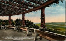 EARLY 1900'S. OVERLOOKING MISSION VALLEY. FROM PERGOLA TERRACE. SD  POSTCARD u13