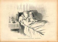 Louis Pasteur sur son Lit de Mort à Villeneuve-l'Etang 1895 ILLUSTRATION