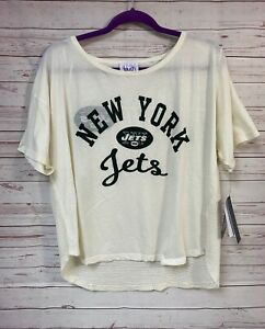 Touch Alyssa Milano Womens Short Sleeve Top Large New York Jets Jersey Tee NWT
