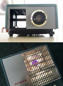 Vintage Argus Special 55 Slide Projector 35mm w/ Lamp Tested & Working