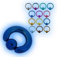 2mm 12g Large Gauge Titanium BCR Ball Closure Ring Captive Bead Heavy Grade 23