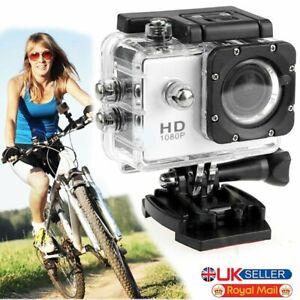 HD 1080P DV Action Waterproof Cam Sport Bike Motor Cycle Action Helmet Camera UK