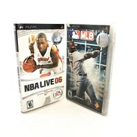 Lot Of 2 Games NBA Live 06 MLB Major League Baseball Sony PSP Video Game