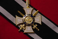 PRUSSIA / GERMAN EMPIRE WWI MEDAL ORDER OF THE CROWN W/SWORDS COMMANDER'S CROSS