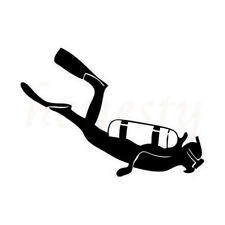 Fashion Diver Diving Car Sticker Motorcycle Decoration Decal Black