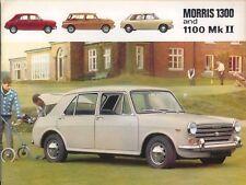 Morris 1300 & 1100 Mk II 1968 original UK Sales Brochure Pub. 2457/D 1967-1970