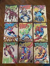 Marvel Universe 1994 Fleer Limited Edition Silver Power Blast Complete set of 9