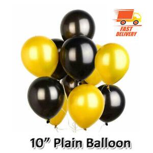 "20 X Latex PLAIN BALOON BALLONS helium BALLOONS 10"" inch Party Birthday BDDAY UK"
