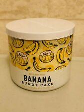 Bath & Body Works Candle BANANA BUNDT CAKE Candle Scented 3-Wicks Jar Wax NEW