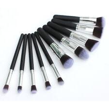 10 Foundation Brush Cosmetic Makeup Set Tool Kabuki Style Contour Powder Brushes