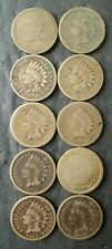 Lot of 10 1c Copper-Nickel Cents
