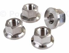 "Ultralight BMX bicycle axle nuts 3/8"" X 26T 26tpi - SET OF 4 - SILVER - TITANIUM"