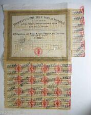 Obligation  ancienne : SA Tramways et Omnibus F Pons de toulouse ( 764 )