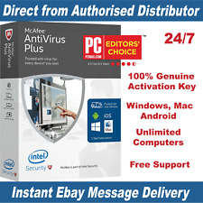 McAfee Antivirus Plus 2018 Unlimited Devices - 1 Year KEY Instant Email Delivery