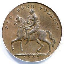1793 ANACS AU 55 Gr Brit Lady Godiva Conventry Halfpenny Conder Token