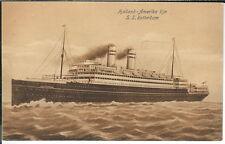 AZ-183 - Holland America Line, S.S. Rotterdam, 1907-1915 Postcard, Steamship