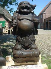 Happy Buddha lachender Buddha Glück Steinfigur massiv 45 cm XL Garten frostfest