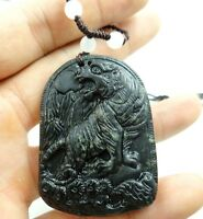 Beautiful 100% Chinese jade hand-carved the statue of tiger PENDANT B