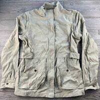 *Womens Royal Robbins Tan Jacket Size Large L Full Zip