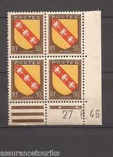 COIN DATÉ - 1946 YT 757 ARMOIRIES - TIMBRES NEUFS** LUXE