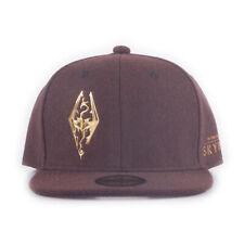 The Elder Scrolls Skyrim Dragon Logo Snapback Baseball Cap Unisex Burgundy