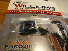 WILLIAMS GUN SIGHTS GLOCK MODELS 17,19, 22, 23,34,35 FIBER OPTIC LIGHT GATHERING