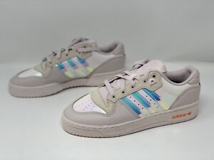 Adidas Rivalry Low Pale Pink Iridescent Sneakers, Size 9.5 NWOB EE5129