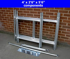 "DIY Scaffold Tower 4' x 2'6"" x 11'6"" / 3.5m (WH) Galvanised Steel"