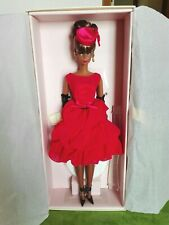 BARBIE LITTLE RED DRESS SILKSTONE NRFB - GOLD LABEL model doll collection Mattel