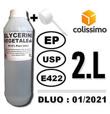 ⭐ 2L   GLYCÉRINE VÉGÉTALE (99.8%) (E422)   ALIMENTAIRE   COSMÉTIQUES   e-LIQUIDE