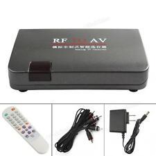 Universal RF to AV Analog TV Receiver Box Video Audio Converter Adapter