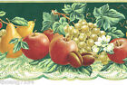 Fruit Apple Grape Pear Green Lace Table Cloth Kitchen Die Cut Wall paper Border