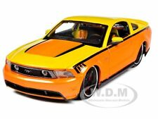 2011 FORD MUSTANG GT ORANGE CUSTOM 1/24 DIECAST CAR MODEL BY MAISTO 31361