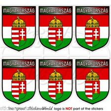 """HUNGARY Hungarian Shield 40mm (1.6"""") Mobile Cell Phone Mini Stickers, Decals x6"""