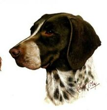 GERMAN SHORTHAIR Dog Head.  6 inch Identical Fabric Squares-Quilt&Sew