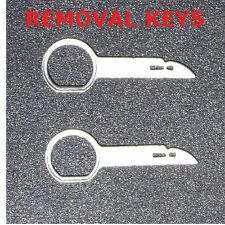 2 RADIO REMOVAL tools keys for Audi Mercedes VW FORD stereo