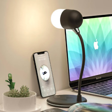LED Desk Lamp With USB Wireless Charger Bluetooth Speaker