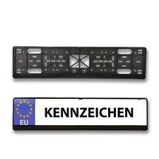 2 x HSM Kennzeichenhalter Nummernschildhalter Kennzeichenhalterung Schwarz