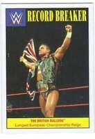 2016 Topps WWE Heritage Wrestling Record Breakers Insert #21 The British Bulldog