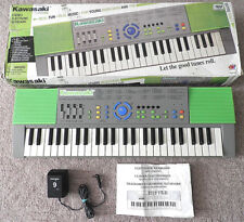 Kawasaki Stereo Electronic Keyboard Iob Vintage 1994 Dsi 49-Key Green Ac Power