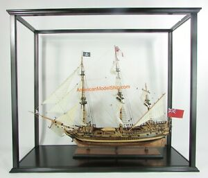 "Display Case For Historic Tall Ships Exclude Plexiglass Or Glass 41"" Inner"
