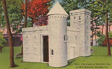 Castle at Children's Zoo on Mill Mountain Roanoke VA Postcard