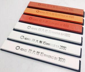 Kitchen Sharpener Stone 180/400/800/1500/2000/3000 w/Bamboo Base&Angle Guide